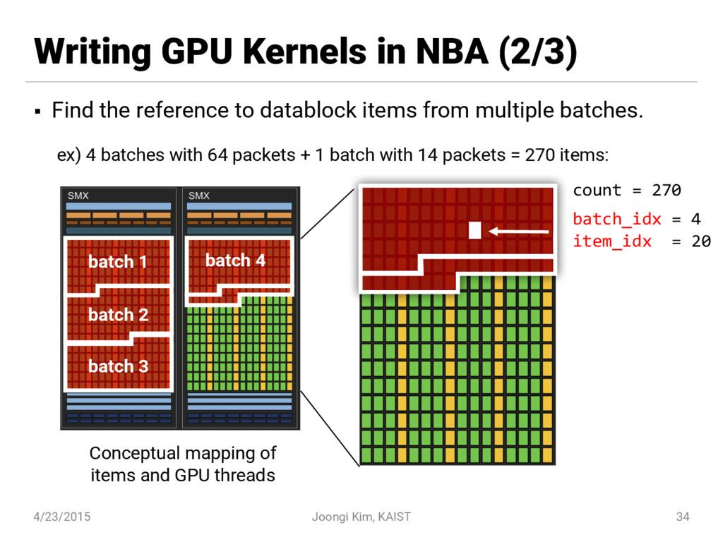Writing GPU Kernels in NBA (2/3) § Find the ref...