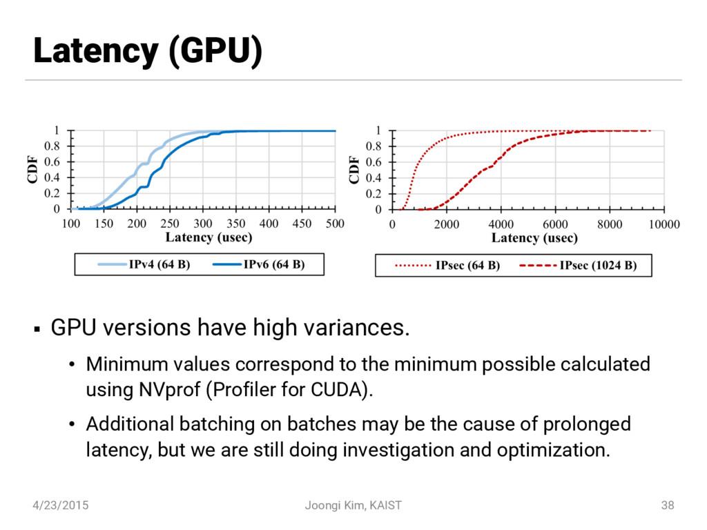 Latency (GPU) § GPU versions have high variance...