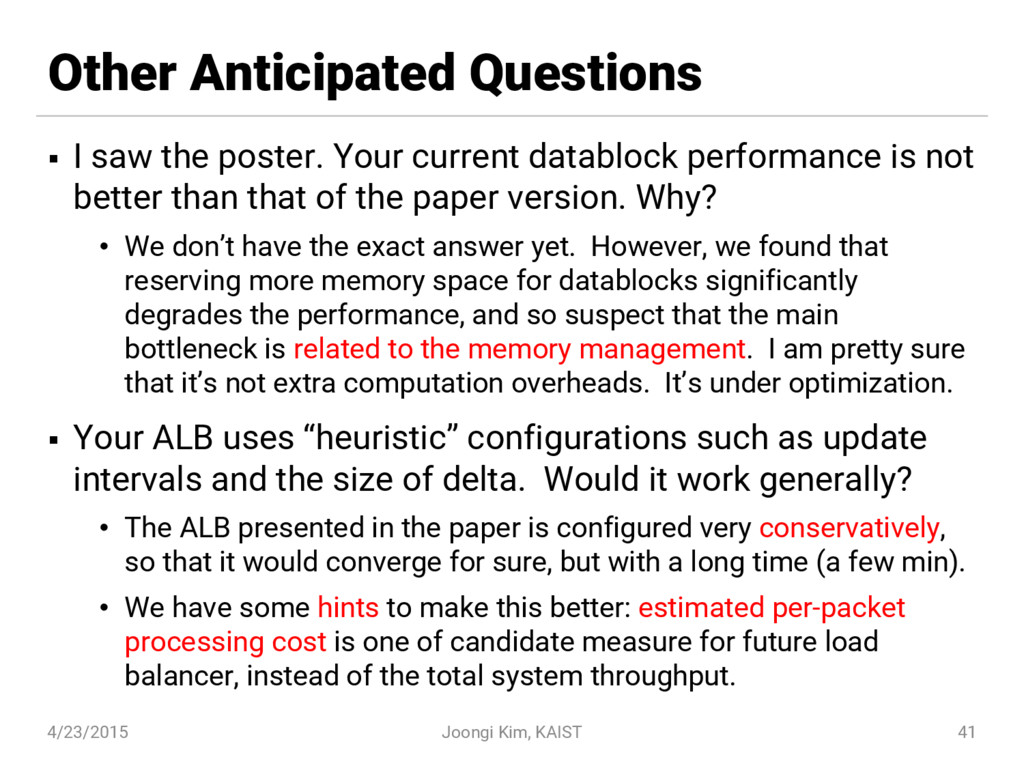 Other Anticipated Questions § I saw the poster....