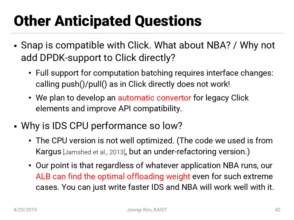 Other Anticipated Questions § Snap is compatibl...