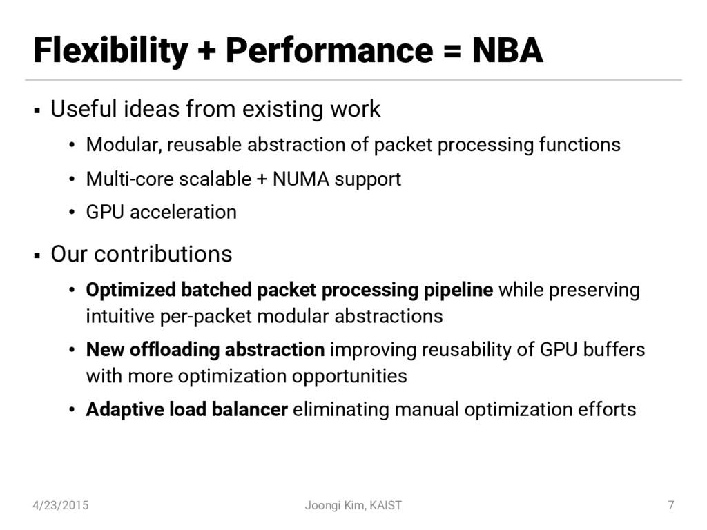Flexibility + Performance = NBA § Useful ideas ...