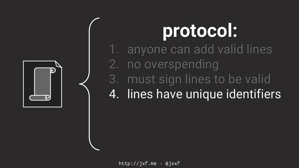 http://jxf.me · @jxxf protocol: 1. anyone can a...