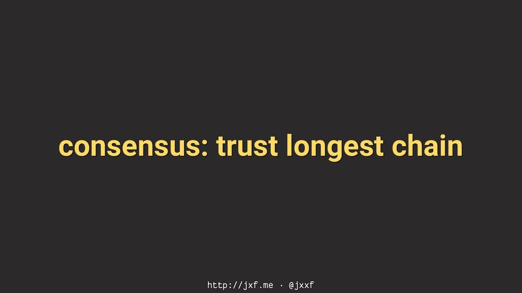 consensus: trust longest chain http://jxf.me · ...