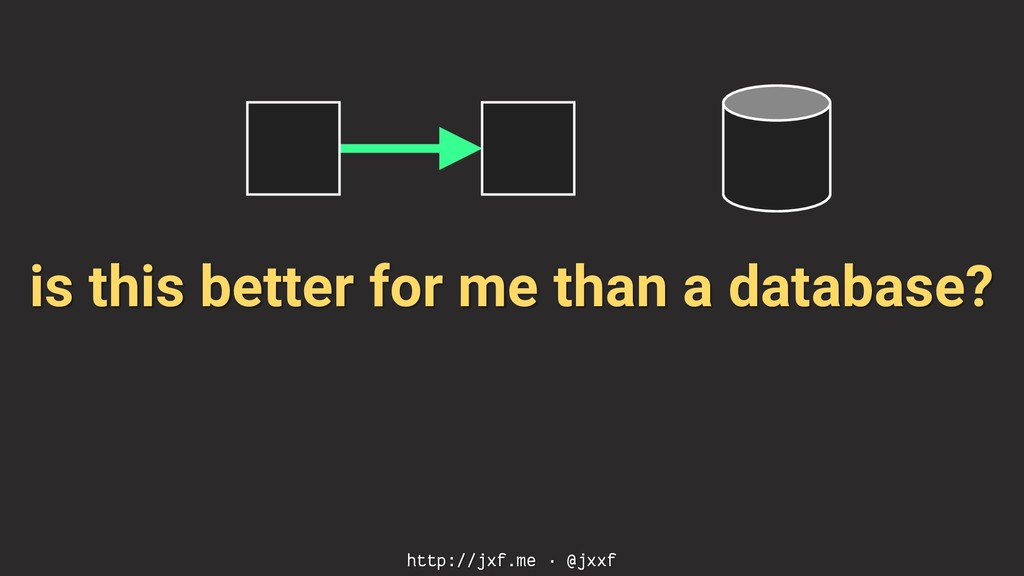 is this better for me than a database? http://j...