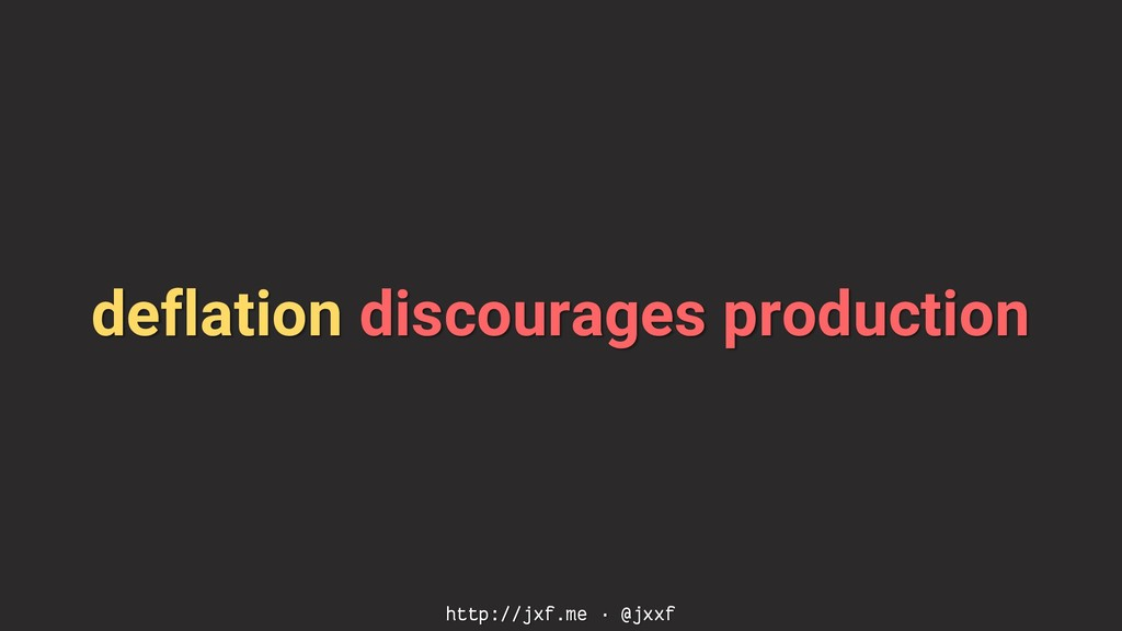 deflation discourages production http://jxf.me ...