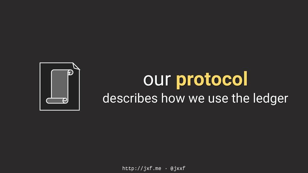 http://jxf.me · @jxxf our protocol describes ho...