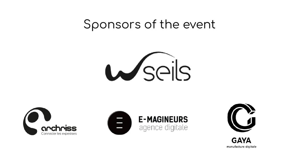 Sponsors of the event