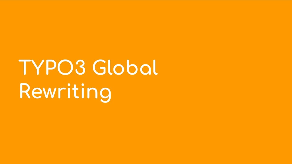 TYPO3 Global Rewriting