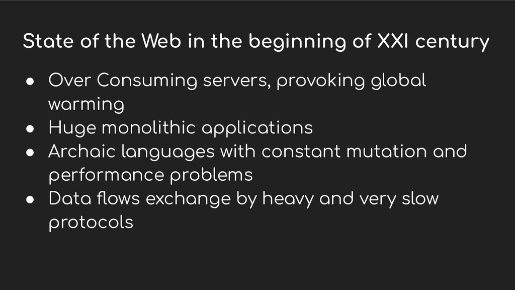 State of the Web in the beginning of XXI centur...