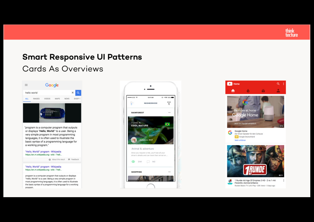 Cards As Overviews Smart Responsive UI Patterns