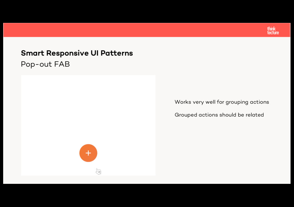 Pop-out FAB Smart Responsive UI Patterns Works ...