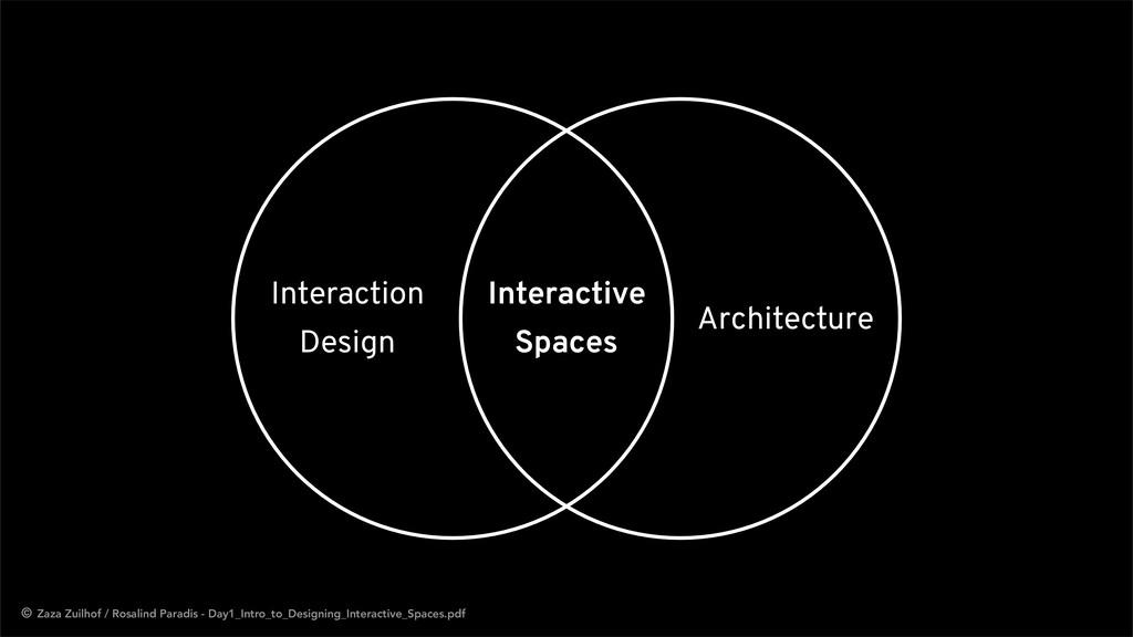 Architecture Interaction Design Interactive Spa...