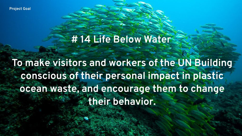 To make visitors and workers of the UN Building...