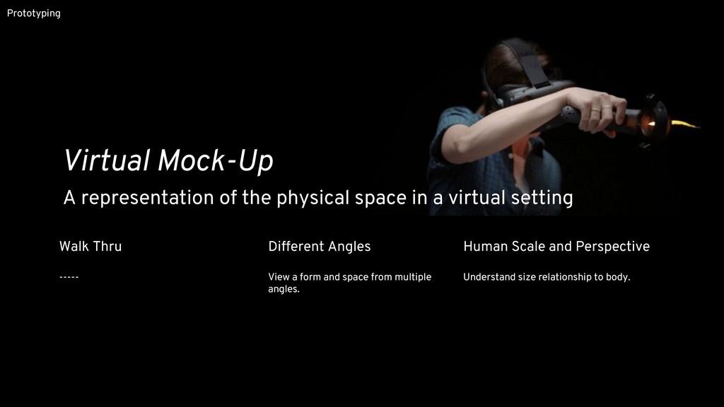 Prototyping Virtual Mock-Up Walk Thru ----- Dif...