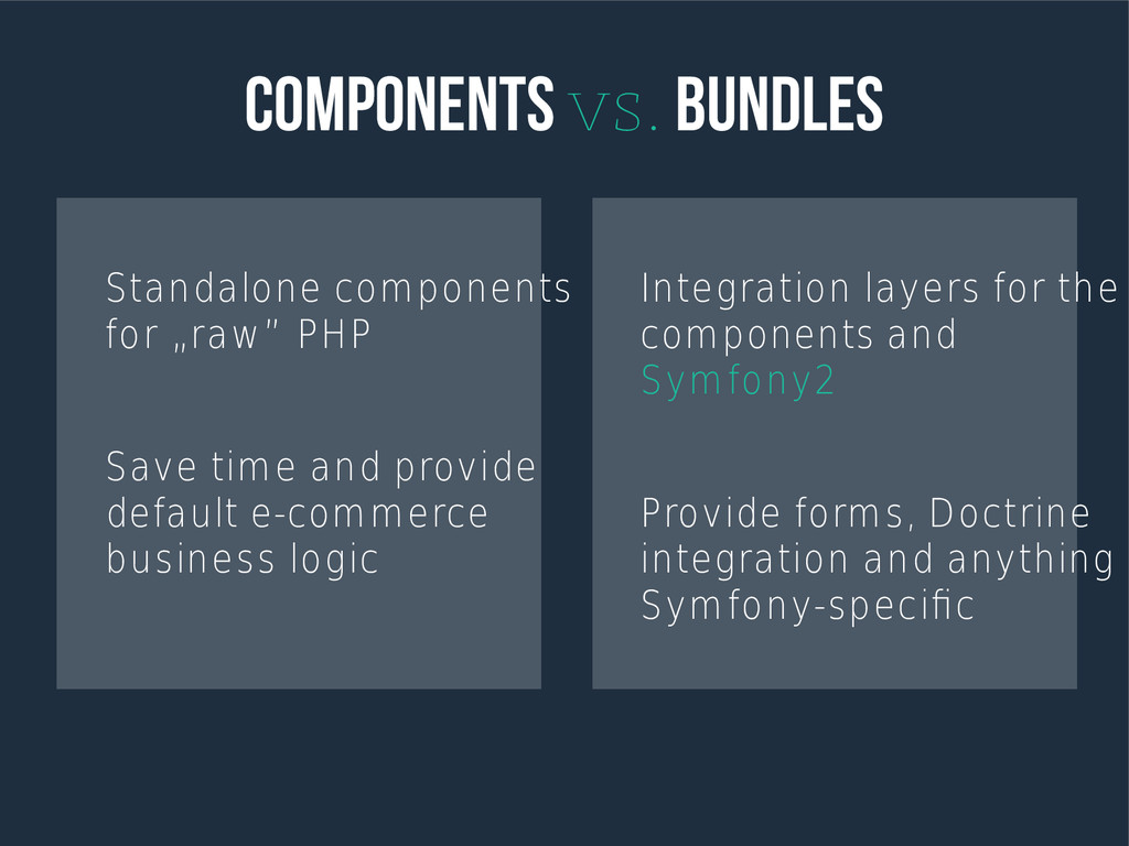 Components vs. Bundles Standalone components fo...