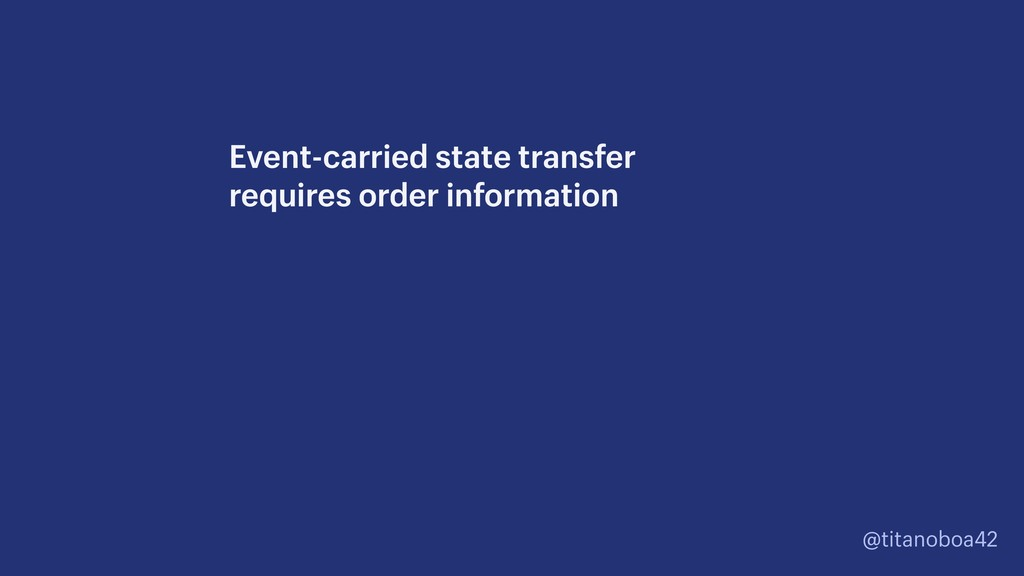 @titanoboa42 Event-carried state transfer