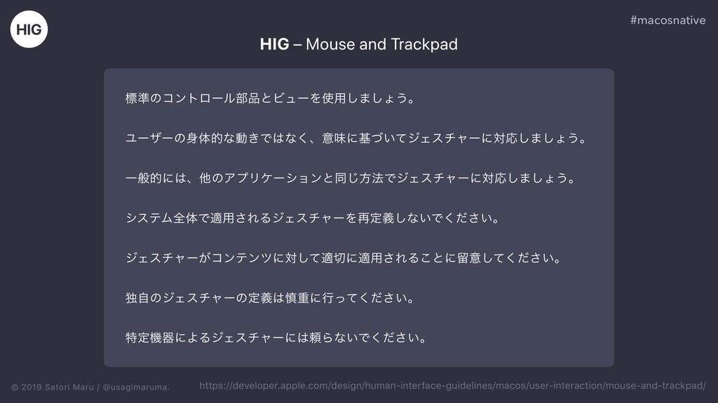 © 2019 Satori Maru / @usagimaruma. HIG – Mouse ...