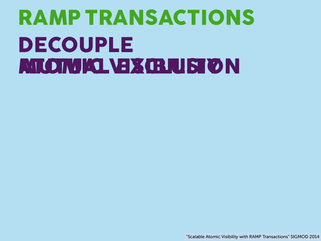 TRANSACTIONS RAMP DECOUPLE ATOMIC VISIBILITY MU...