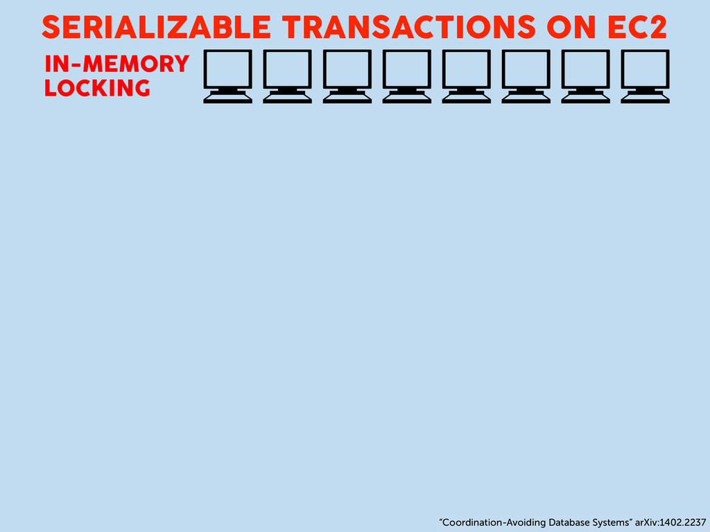 SERIALIZABLE TRANSACTIONS ON EC2 IN-MEMORY LOCK...