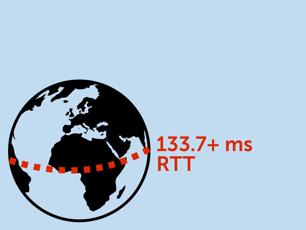 133.7+ ms RTT