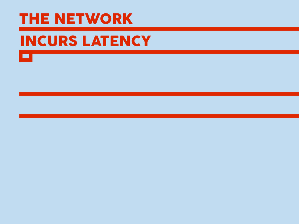 THE NETWORK INCURS LATENCY