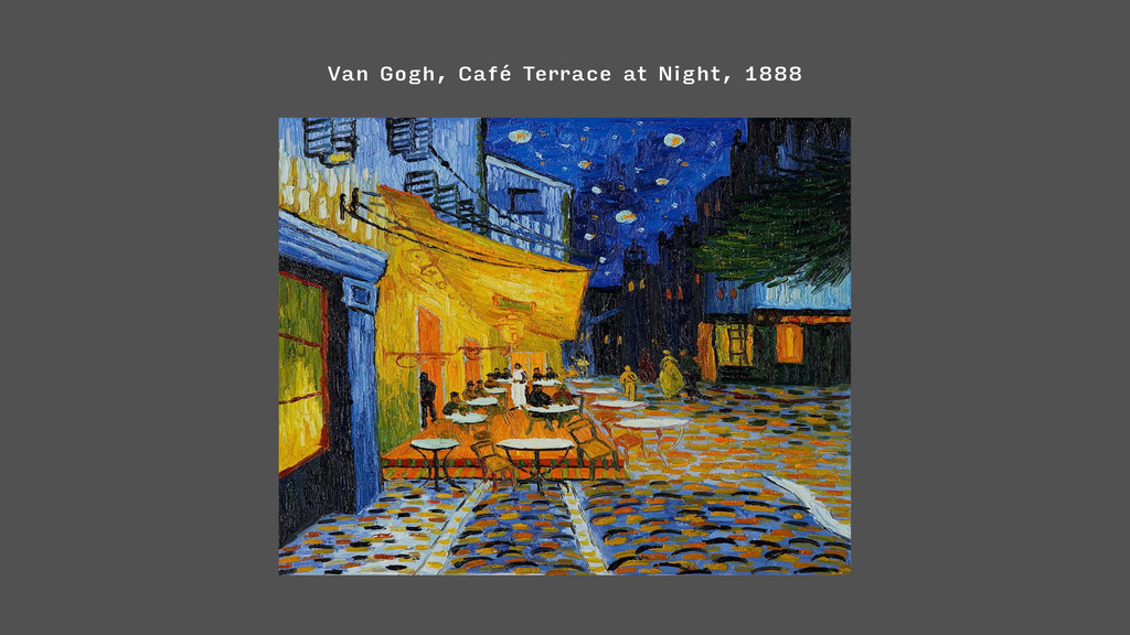 Van Gogh, Café Terrace at Night, 1888
