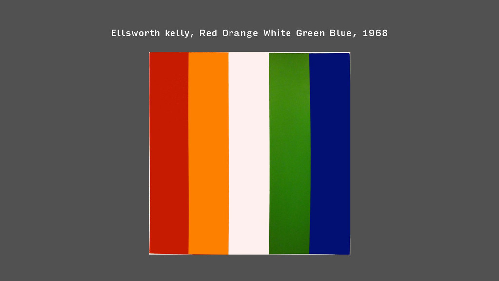Ellsworth kelly, Red Orange White Green Blue, 1...