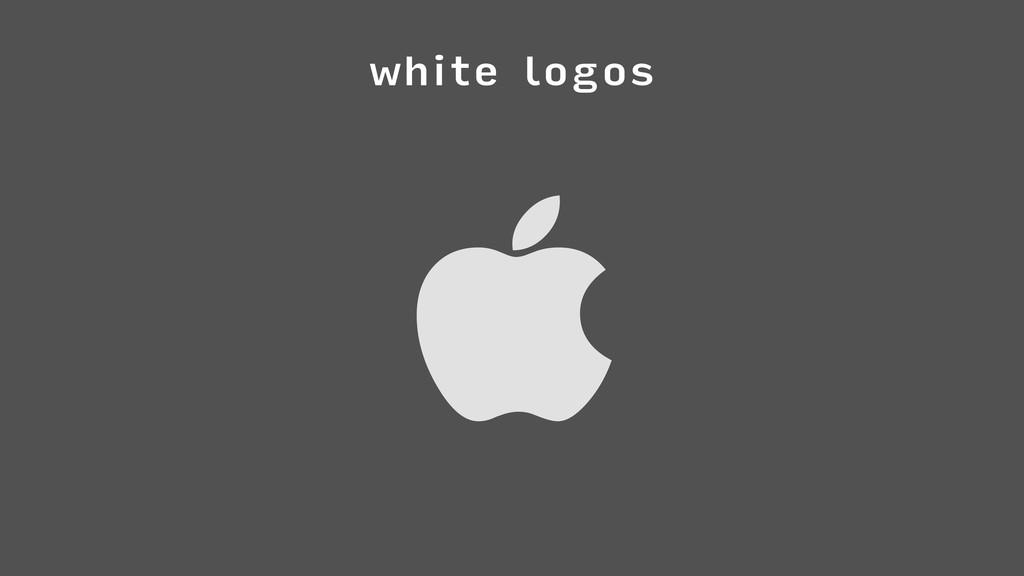 white logos