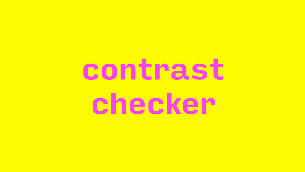 contrast checker