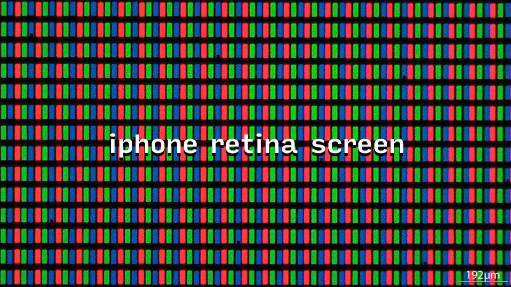 iphone retina screen
