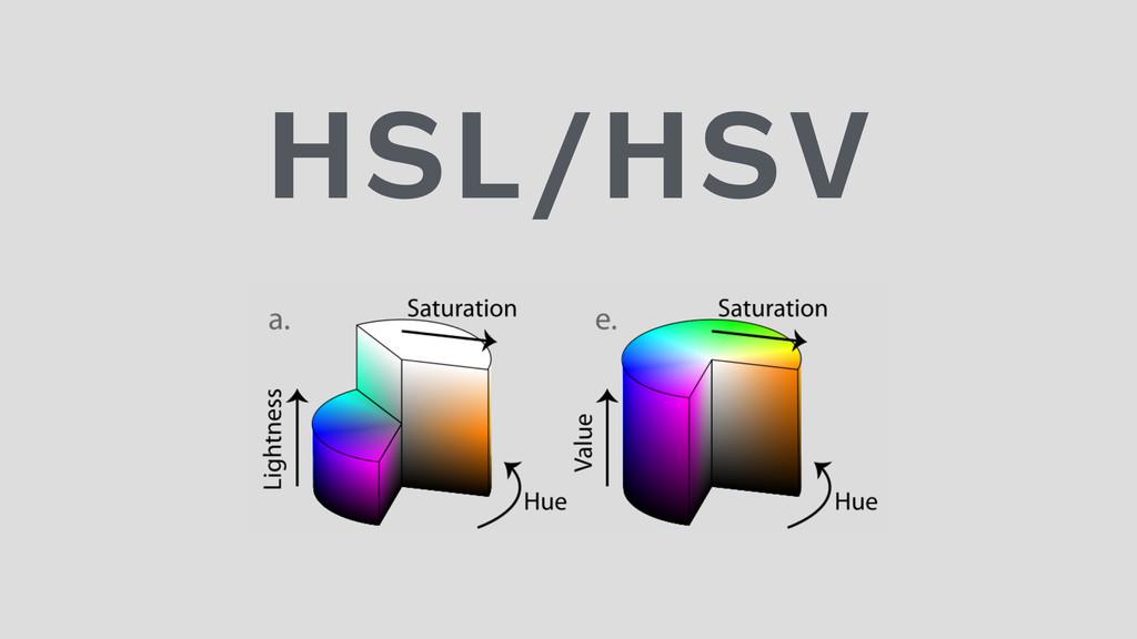 HSL/HSV