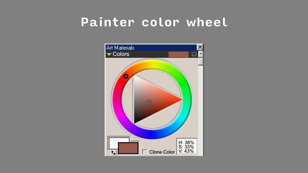 Painter color wheel