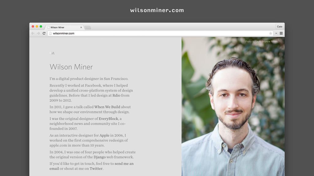 wilsonminer.com