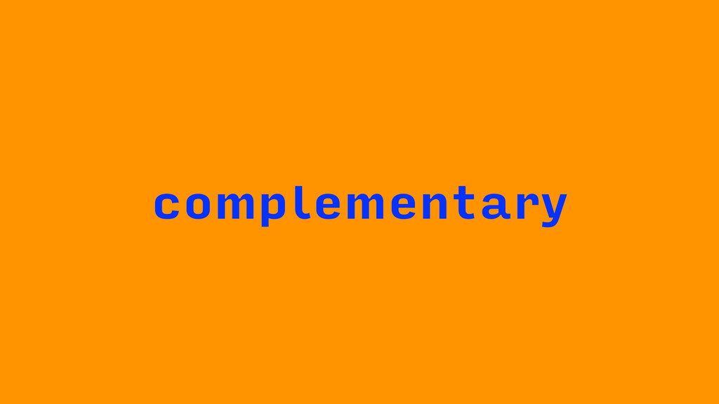 complementary
