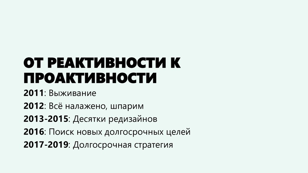 ОТ РЕАКТИВНОСТИ К ПРОАКТИВНОСТИ 2011: Выживание...
