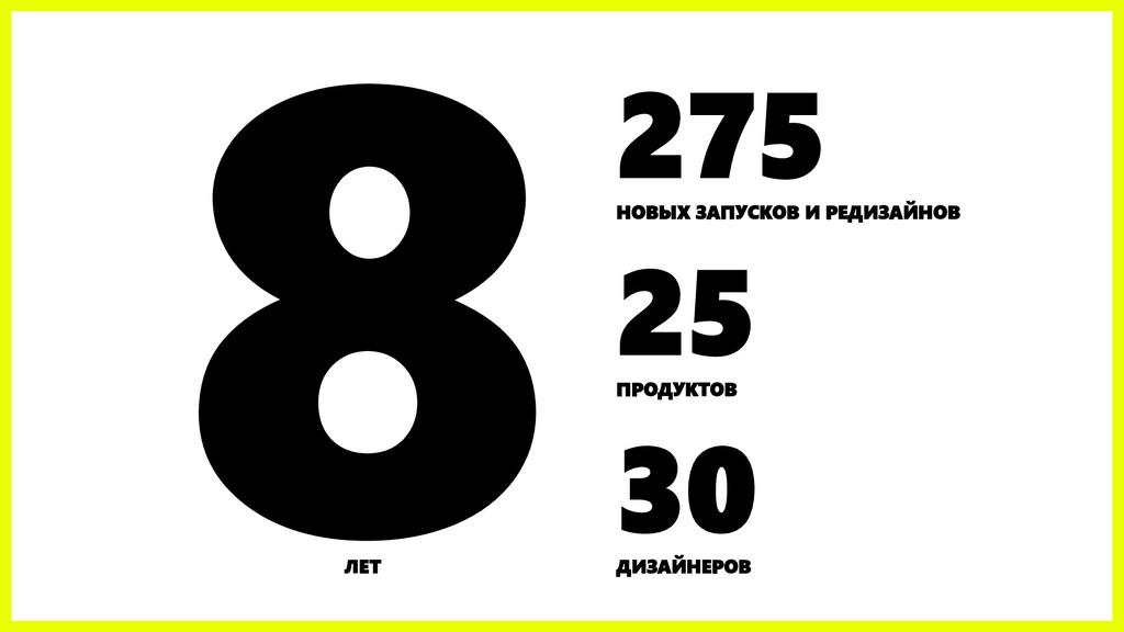 275 НОВЫХ ЗАПУСКОВ И РЕДИЗАЙНОВ 25 ПРОДУКТОВ 30...