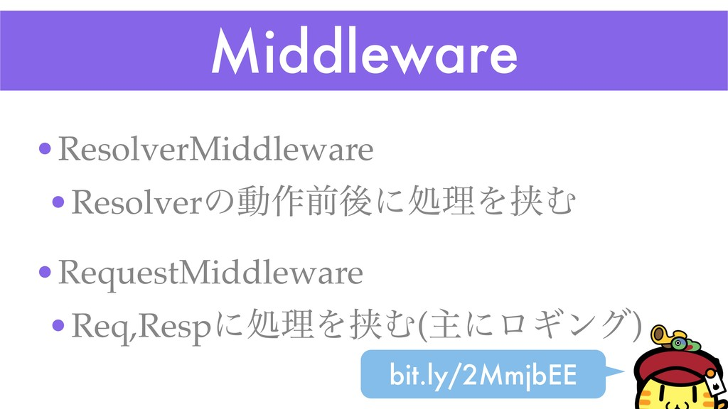 Middleware •ResolverMiddleware •Resolverͷಈ࡞લޙʹॲ...