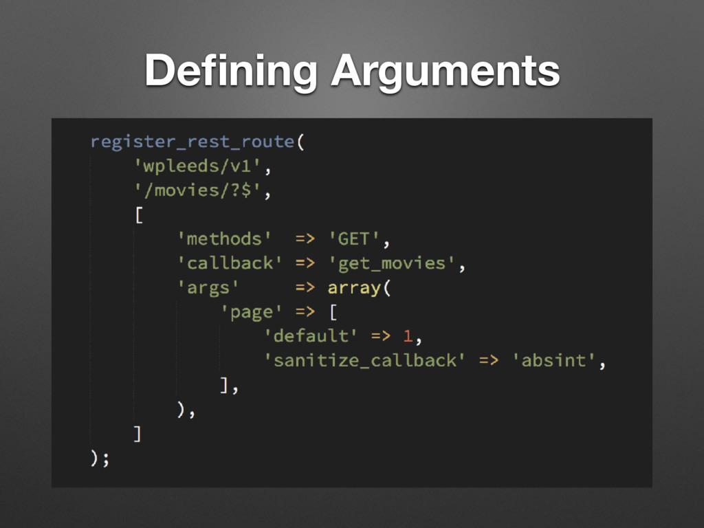 Defining Arguments