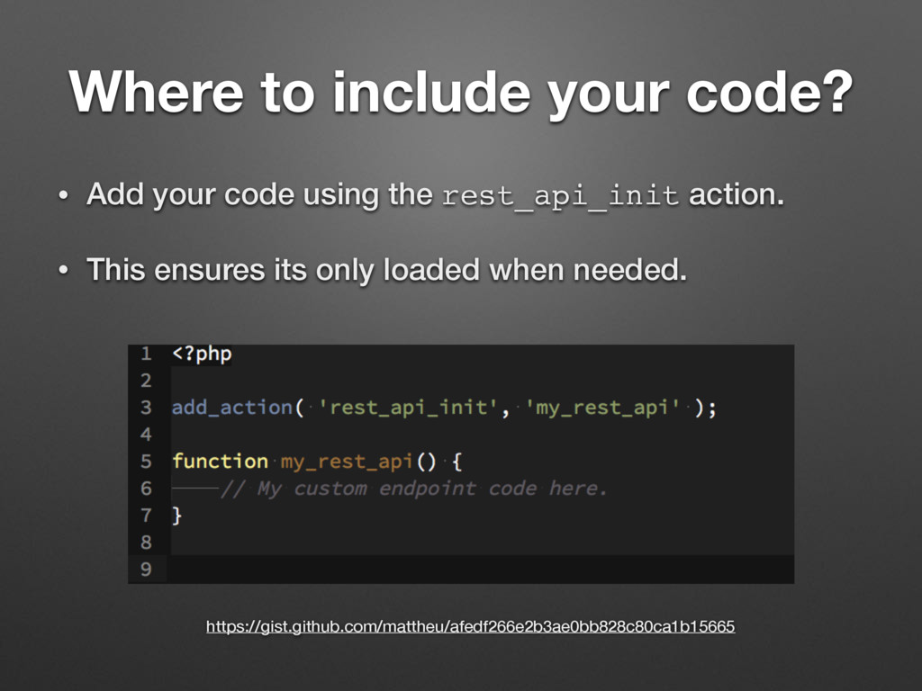 Where to include your code? • Add your code usi...