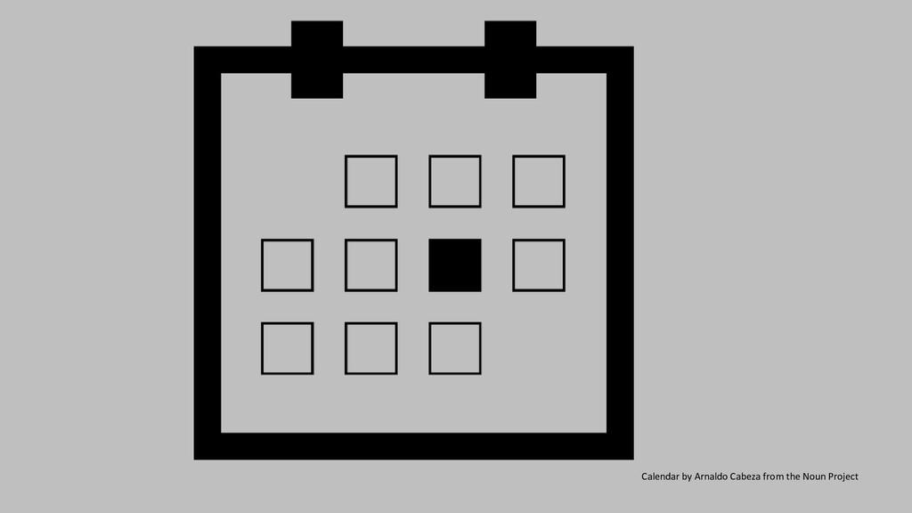 Calendar by Arnaldo Cabeza from the Noun Project