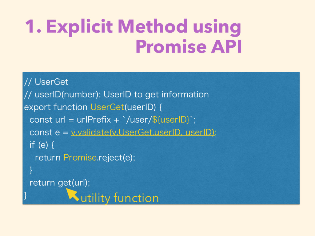 1. Explicit Method using  Promise API 6TFS(...