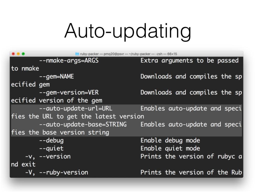 Auto-updating