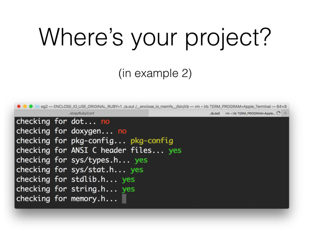 Where's your project? (in example 2)