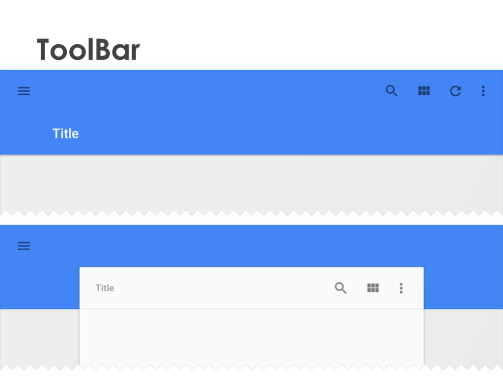 2015 • ToolBar Material Design (dev)