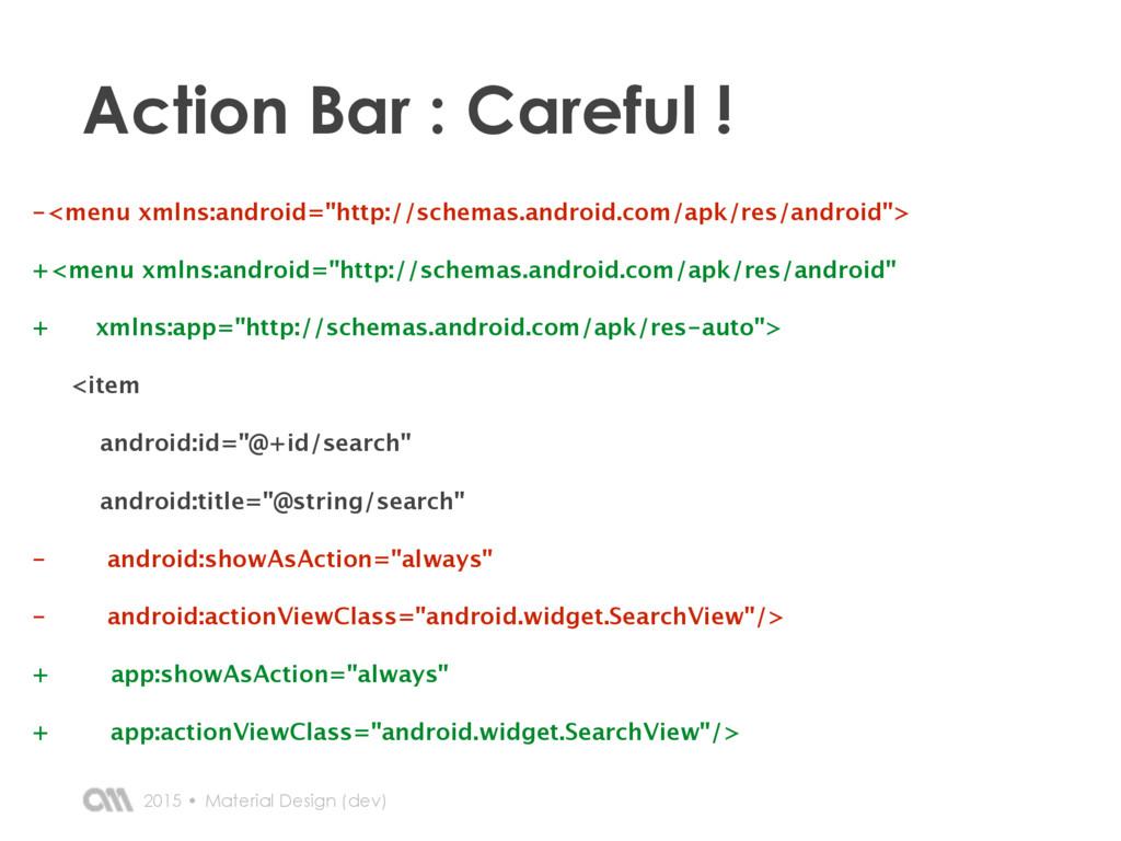 2015 • Action Bar : Careful ! Material Design (...