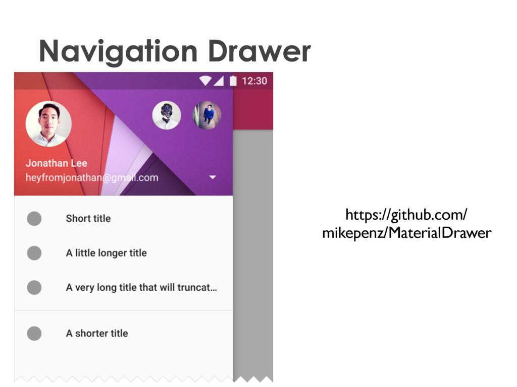 2015 • Navigation Drawer Material Design (dev) ...