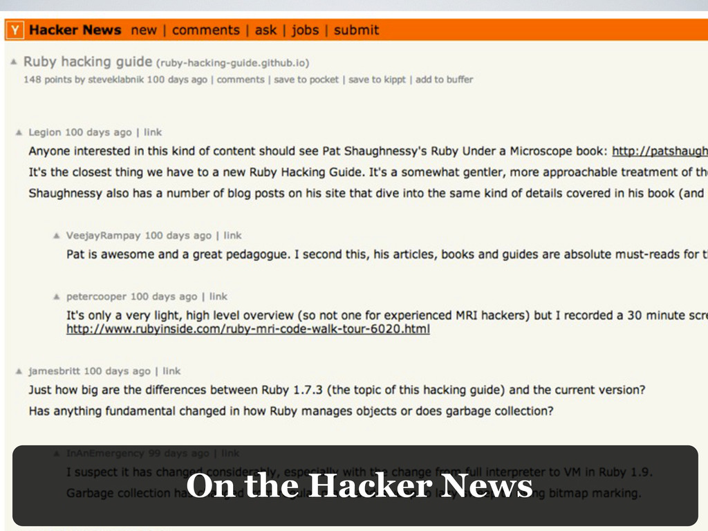On the Hacker News