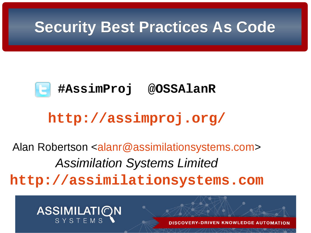 Security Best Practices As Code Security Best P...