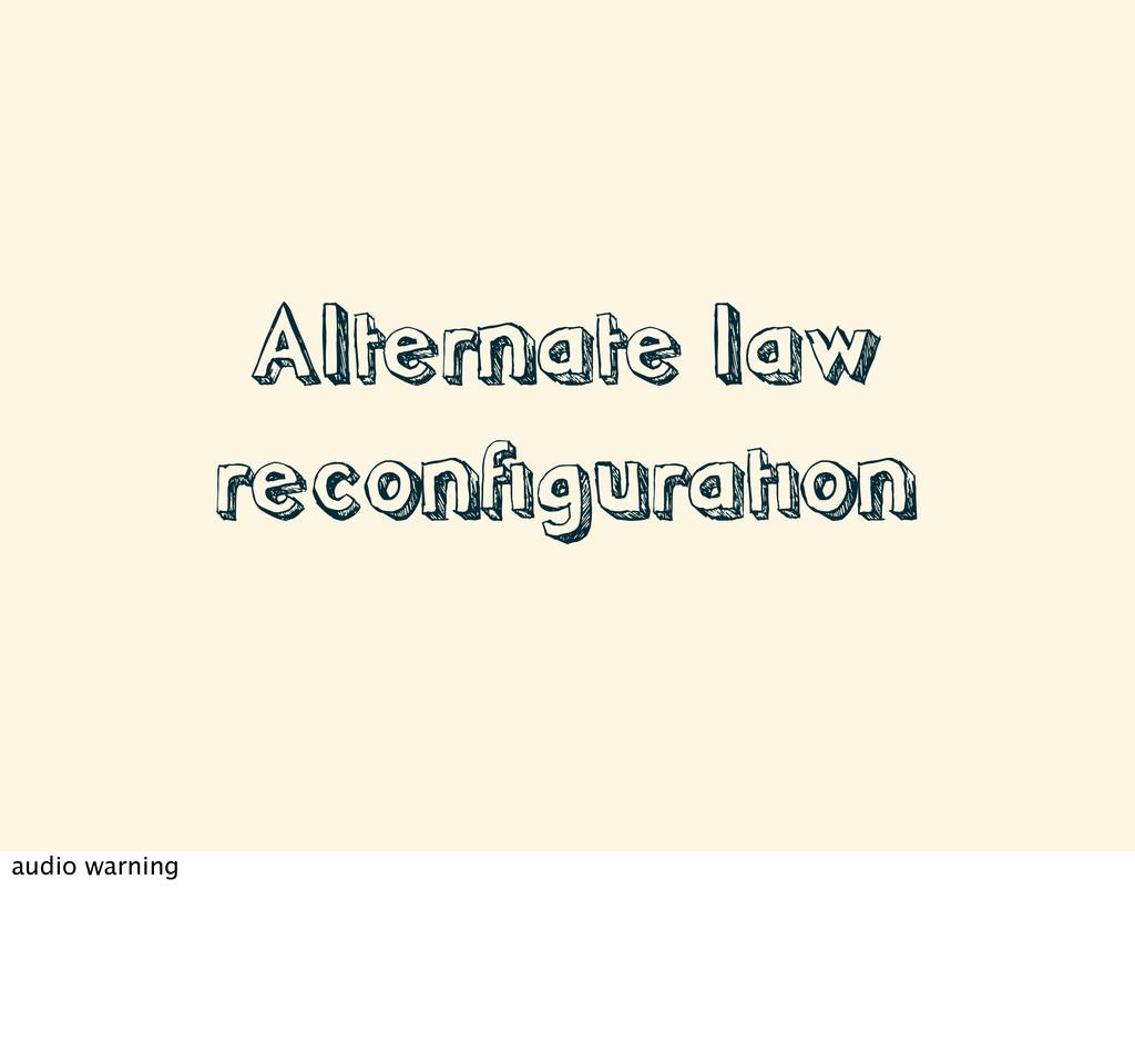 Alternate law reconfiguration audio warning