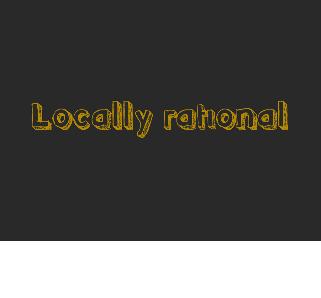 Locally rational